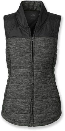 The North Face Pseudio Vest - Women's DARK GREY HEATHER/BLACK $99