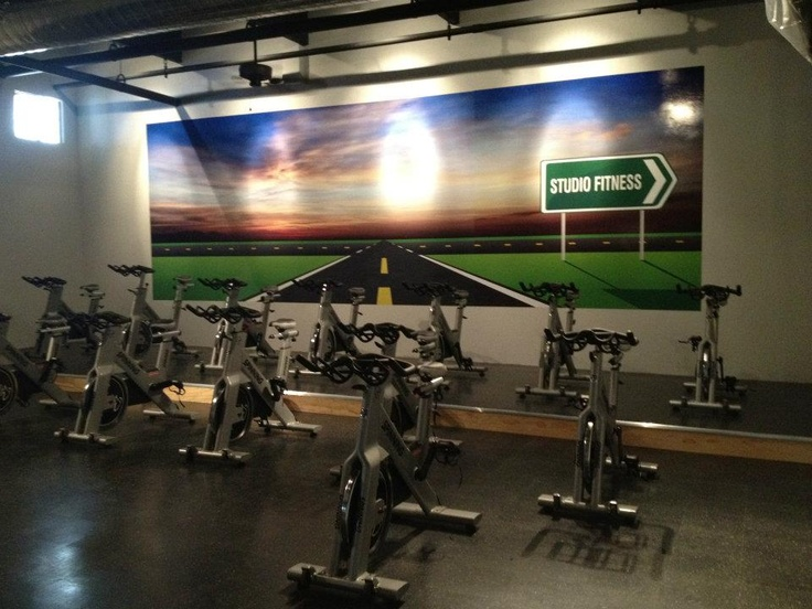 Awesome spin room at Studio Fitness!