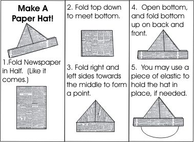 Make a paper hat swap (print directions with a mini paper hat in a mini Ziploc bag)