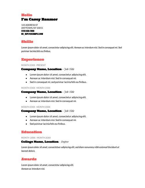 Las 25+ mejores ideas sobre Good resume templates en Pinterest - good resume title