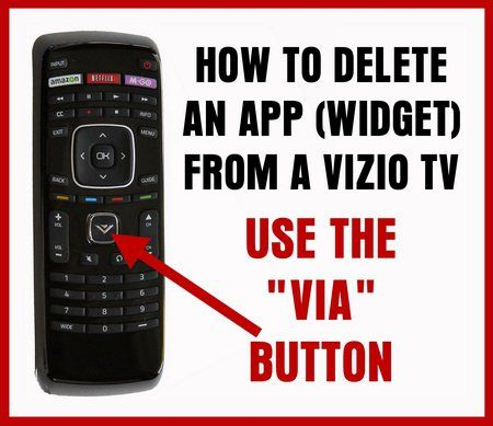 How To Delete APPS From A VIZIO SMART TV Smart tv, App, Tvs