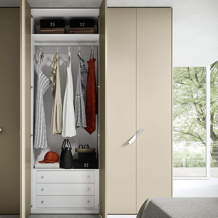 Wardrobe One by Siluetto. Functional | Smart solution | Wardrobe with chest of drawers |