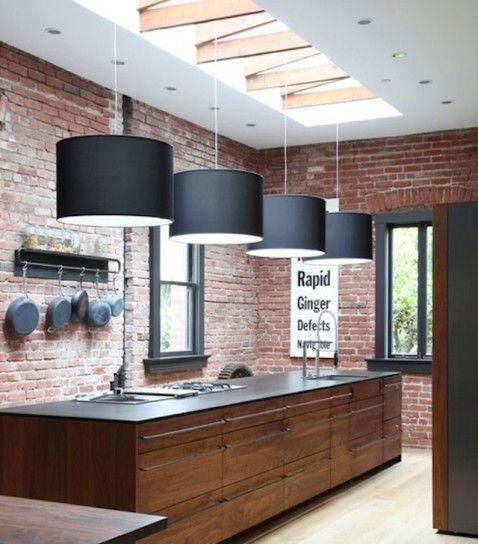 Decorare casa con i mattoni a vista - Mattoncini a vista in cucina