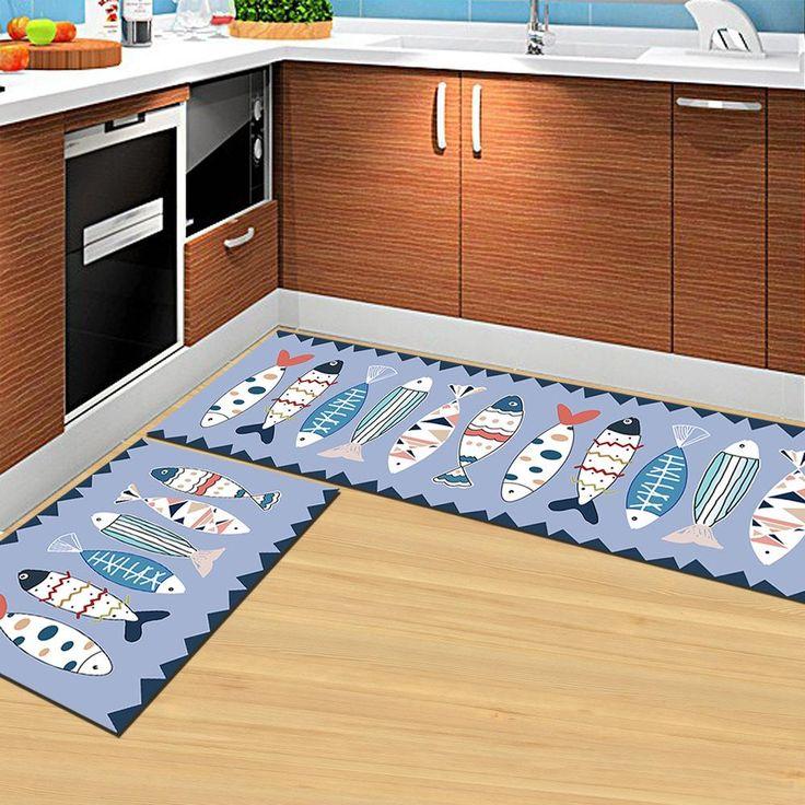 Welcome Floor Mats Kawaii Animal Cat Printed Bathroom Kitchen Carpets Doormats Cat Floor Mat Living Room Anti-Slip Tapete