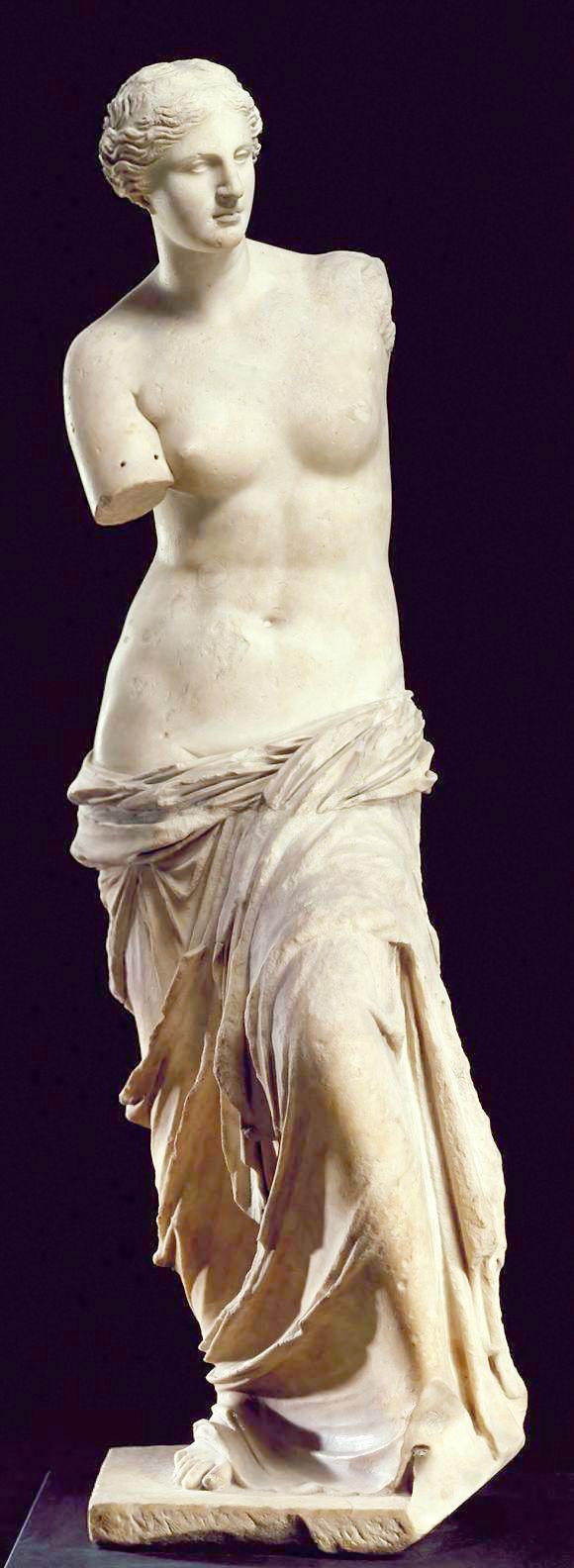PERIODO HELENÍSTICO. Venus de Milo. Una de las estatuas más representativas del período helenístico. Creada en algún momento entre los años 130 a. C. y 100 a. C. Louvre.