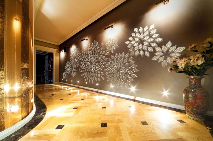 What you can see when looking through the Kaleidoscope ... design concept of a wall artwork.