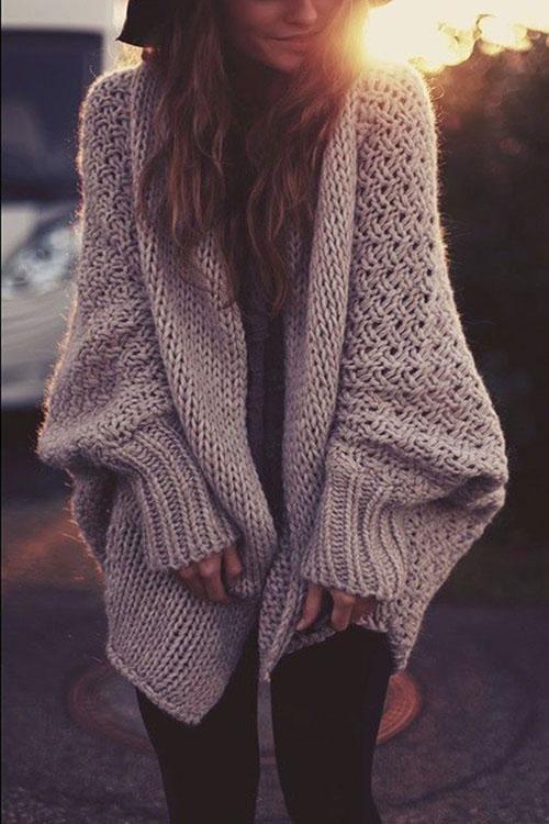 Poppoly Sweetest Devotion Loose Knitting Cardigan – PopPoly