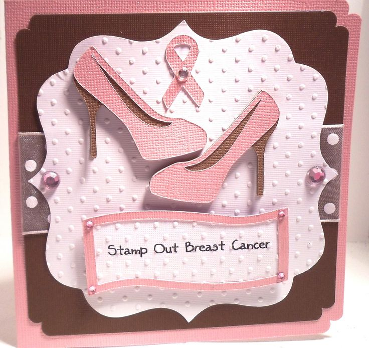 Cricut Chick: October 2010: Breast Cancer Cards, Cards Awareness, Cricut Cards, Cards Cancer Survivor, Crafts Cards Canc, Handmade Cards, Cancer Awareness, Hope Canc Cards, Cards Handmade