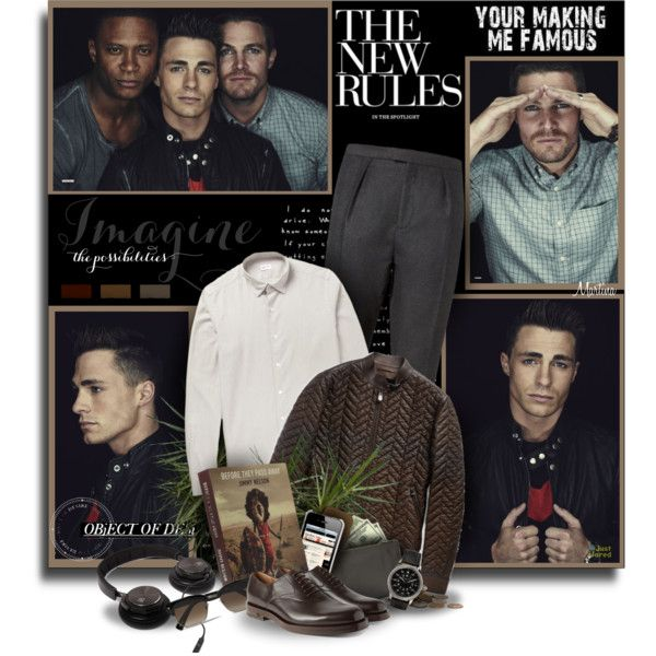 Arrow Men by thewondersoffashion on Polyvore featuring moda, Incotex, Berluti, Burberry, teNeues, Gucci, B&O Play, Jil Sander, Lanvin and Valextra