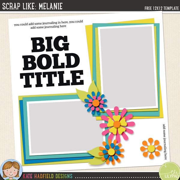427 best Free Digital Scrapbook templates images on Pinterest