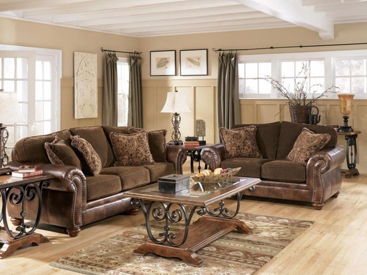 [Featured] : Traditional Living Room Decor Ideas Along With Brown Leather  Couch Also Cushion Part 56