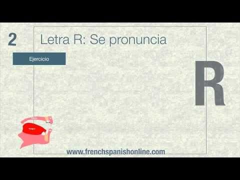 La letra R en Francés - pronunciacion