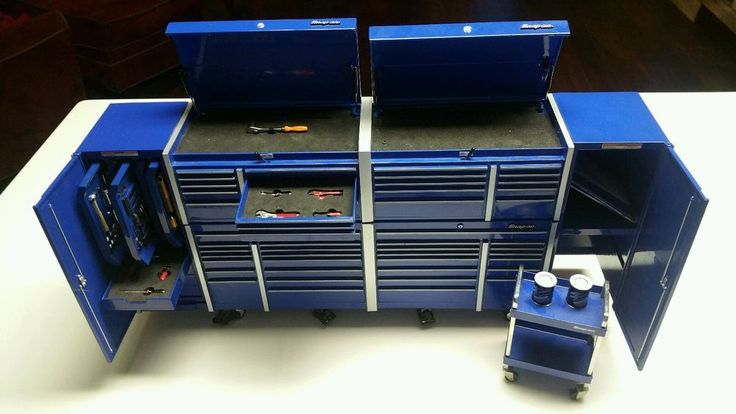 Details About Snap On Tools 18 Scale Replica Mini Red Tool Chest Bank 4 Unit Blue Nice The