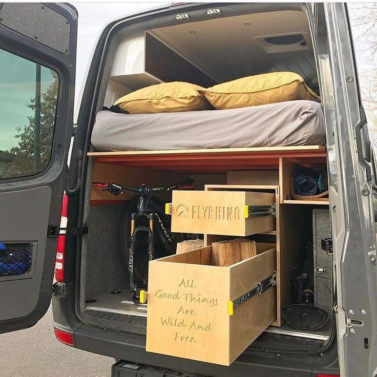 """""""Sprinter Van garage organization with a personal touch  @theambitiousblonde   via @sprintercampervans #sprintervan"""