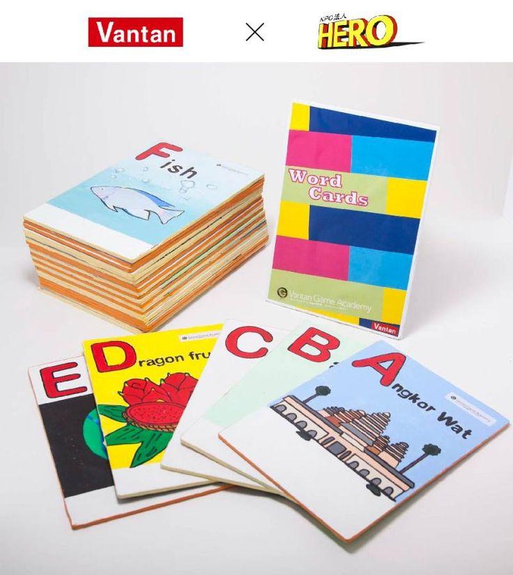 【バンタンゲームアカデミー】カンボジアの子どもたちが英語を学ぶ教材、手作りの英単語イラストカードを制作!