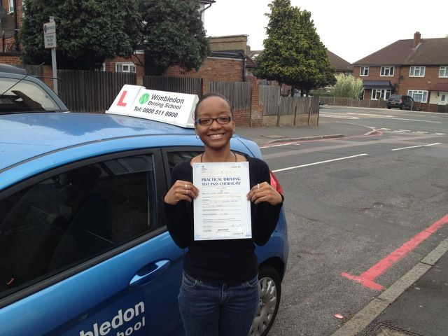 Well done to Davina Gayle on a first attempt pass at Morden Driving Test Centre on Tuesday 1st October.