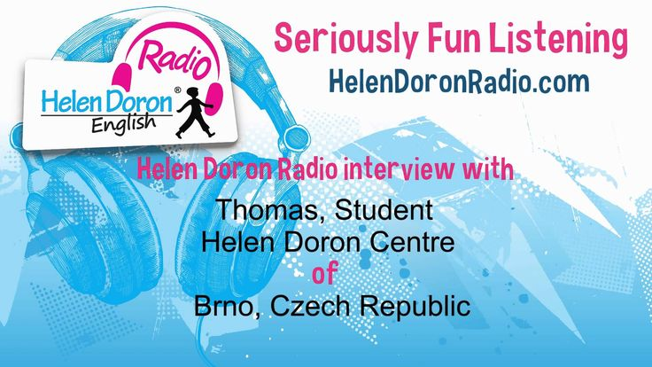 Broadcasting from the Helen Doron English Learning Centre in Brno, Czech Republic, Richard Freedman interviews very enthusiastic 11-year-old Thomas, who has ...
