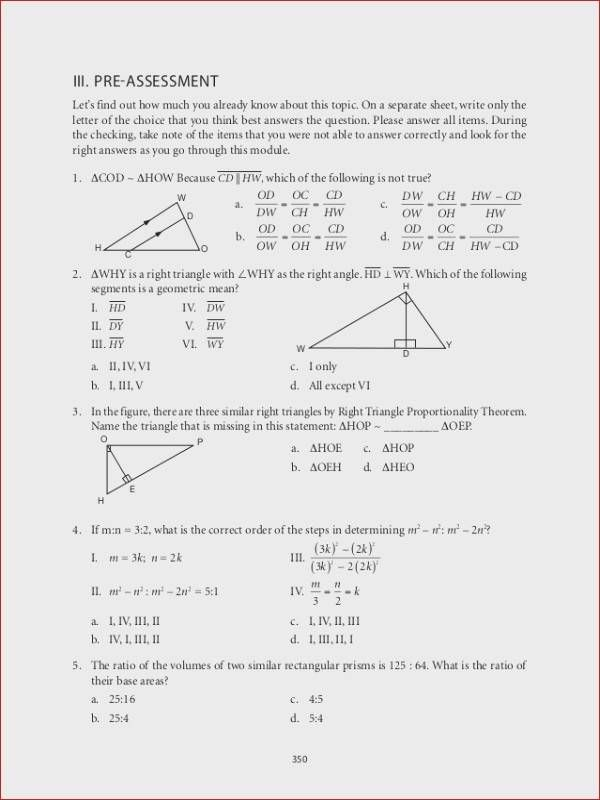 4 6 isosceles and Equilateral Triangles Worksheet Answers www ...