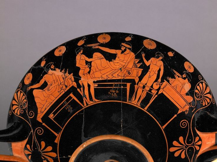 Plato S Klinai Red Figured Kylix Attributed To Douris Our Heritage Greece Throughout The
