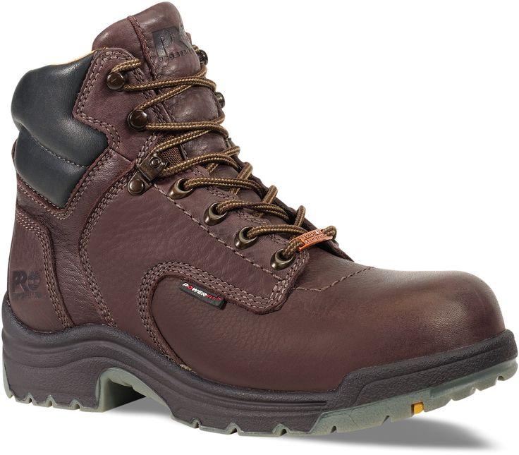 053536210 Timberland PRO Men's TiTAN Work Boots - Dark Mocha