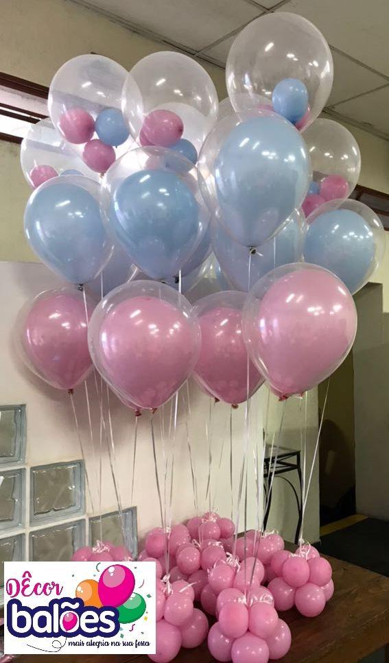 Decoracao Com Baloes Centro De Mesa Baloes Com Gas Helio Tema