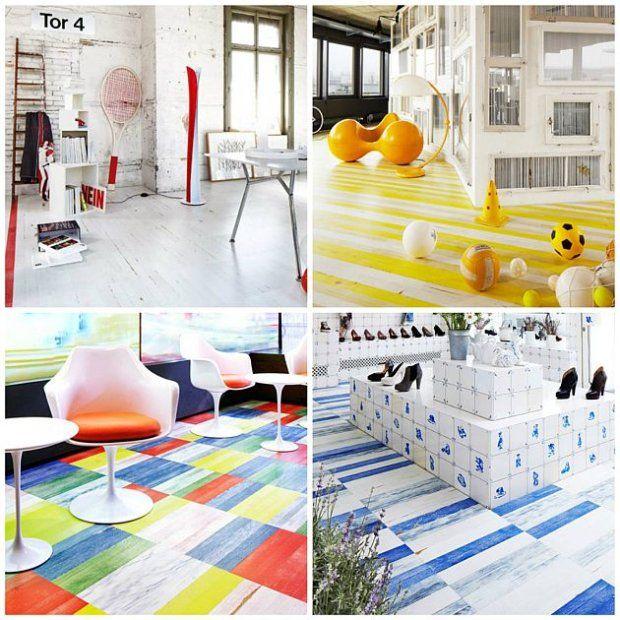 Postarzane podłogi to obecnie jeden z najpopularniejszych trendów w podłogach drewnianych. Firma Bauwerk Parkett przy współpracy ze znaną architekt Virginią Maissen zaprojektował nowe, niepowtarzalne wzory w modnym stylu Vintage. Dwuwarstwowe panele występują w nietypowych jak na podłogi kolorach. Wymiary kolekcji: 470 x 70 x 11 mm oraz 1450 x 130 x 11 mm. - zdjęcie