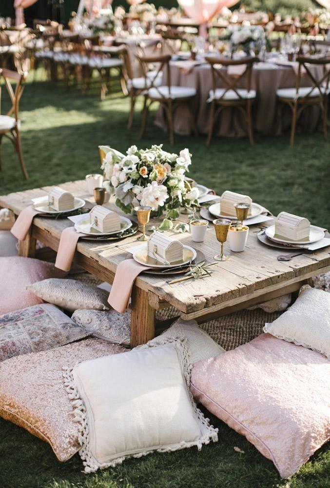 30 Ways To Transform Your Reception Space Wedding Forward Picnic Wedding Outdoor Wedding Reception Bohemian Wedding Decorations