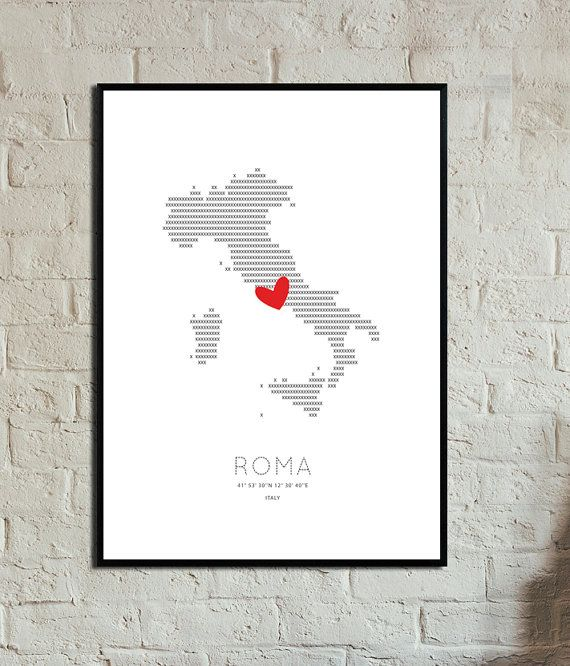 Roma Poster. Instant Download. Wall art. Abstract di 3dimensioni