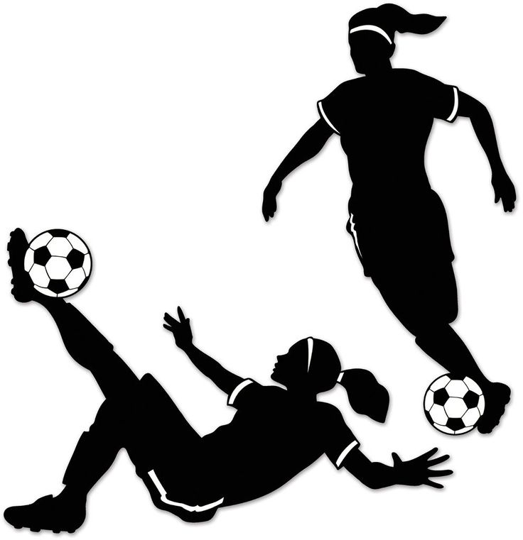 Girl Soccer Silhouettes - 12 Units