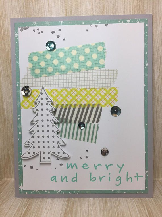 Merry & Bright Christmas Card//Handmade Card