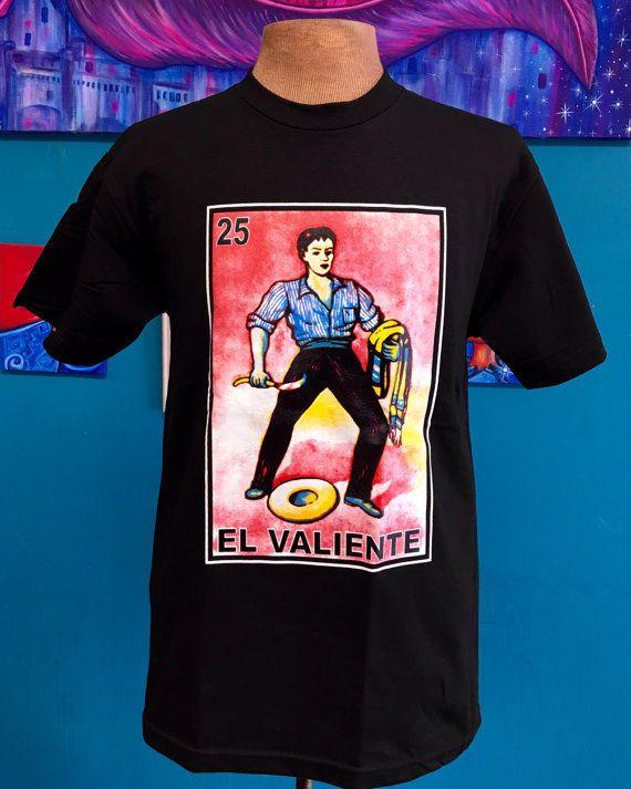 Men's Tshirt, El Valiente, Loteria  | eBay