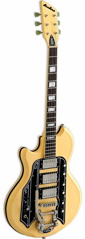 EASTWOOD LEFT HANDED AIRLINE 59 TOWN COUNTRY DLX VINTAGE CREAM - ELECTRIC GUITARS - ELECTRIC LEFT HANDED | Woodbrass.com