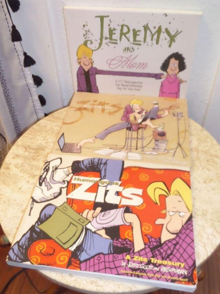 $21 Zits Comic Strip Book Lot- Jeremy & Mom, Humongous Zits, Alternative Zits  #comics #zits #jeremy #mom #books #collection #lot #ebay #giftidea #readers #fun #retro #buy