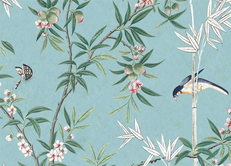 paneel behang iksel decorative arts scenic wallcoverings klassieke behangsels luxury by nature - Kopfteil Plant Knig
