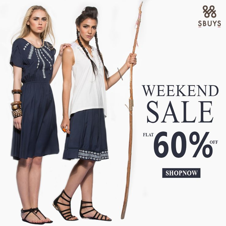 Weekend + Sale = Weekend with benefits. FLAT 60% OFF Shop for the collection @ http://www.sbuys.in #sbuys #womenswear #stylediva #latesttrends #fashionistas #newcollection #elegant #urbanstylewear #springseason #huesandtints #newarrivals #summers #discountseason