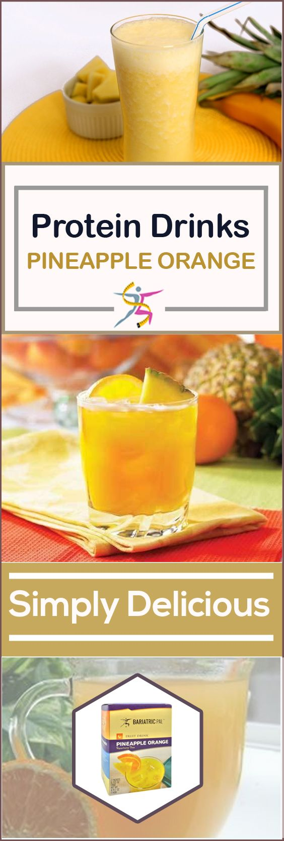 BariatricPal Fruit 15g Protein Drinks - Pineapple Orange:A fruit smoothie can land you in trouble with the sugar and calories, but you can also choose a high-protein BariatricPal Ready to Shake Instant Protein Drink – Pineapple Orange instead. It has 15 grams of protein plus vitamins and minerals, so you can use it as a meal replacement or a snack. It tastes so good and is so satisfying, you'd never guess it only has 70 calories.For those times when you need protein now and need a conv
