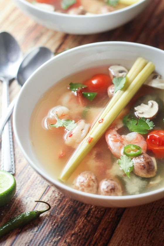 Thai Tom Yum Soup with Shrimp - an easy and delicious recipe!