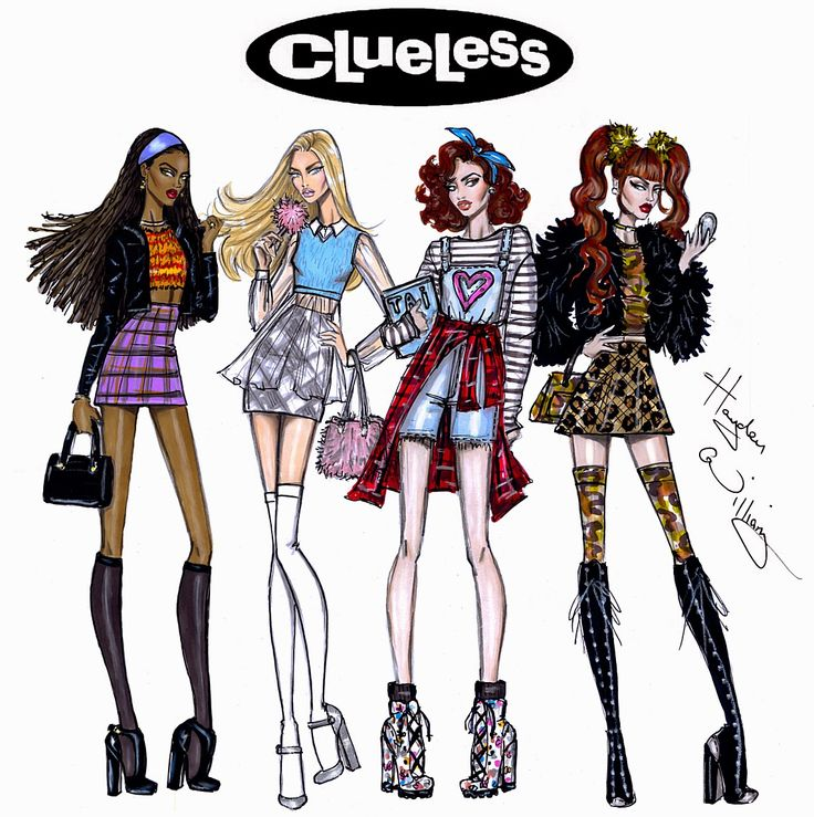#Hayden Williams Fashion Illustrations #Clueless collection by Hayden Williams
