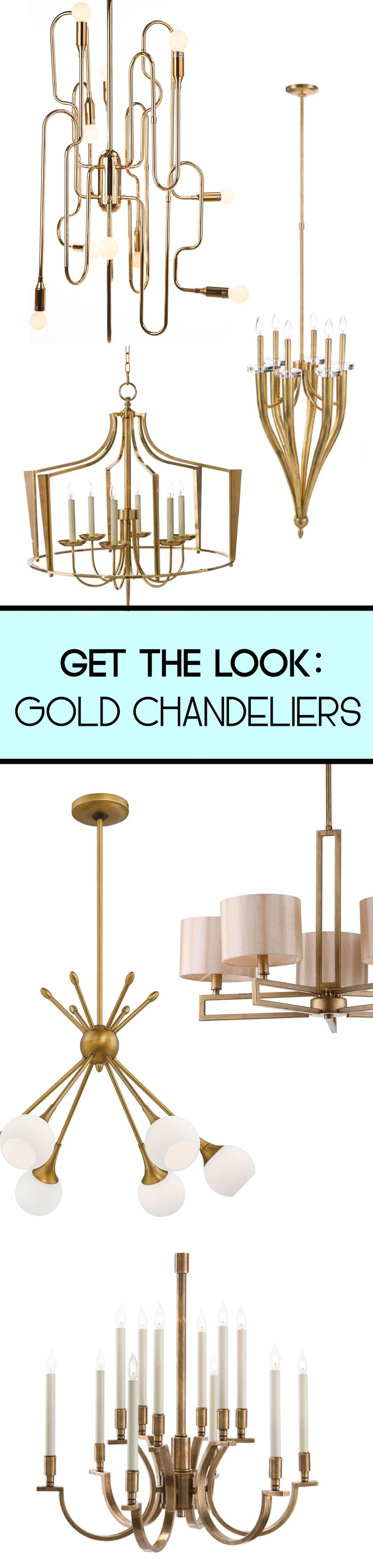 Gold and brass fixtures and faucets promising or passe apartment - Brighten Up Your Space With A Dazzling Gold Chandelier From Luxedecor Goforthegold