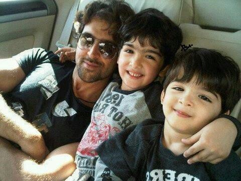 Hrithik and his sons