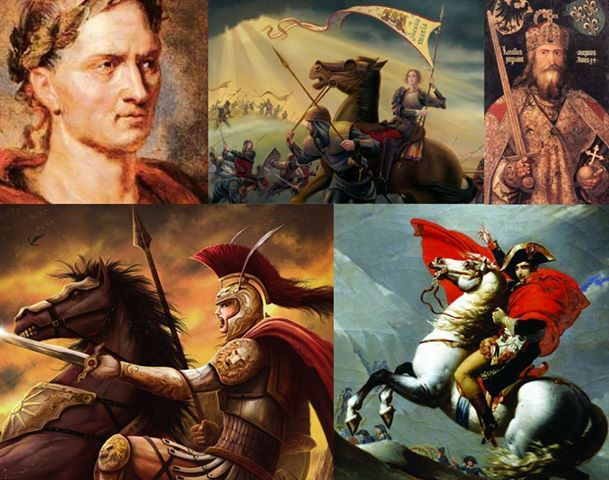 "Alexander The Great, Joan of Arc, Charlemagne, Julius Caesar & Napoléon Bonaparte - Can you find what is common among these famous ‪#‎warriors‬ ?  "" Like "" if you find yourself drawn into your mind's ‪#‎battlefield‬ & you are already on a quest for the answer."