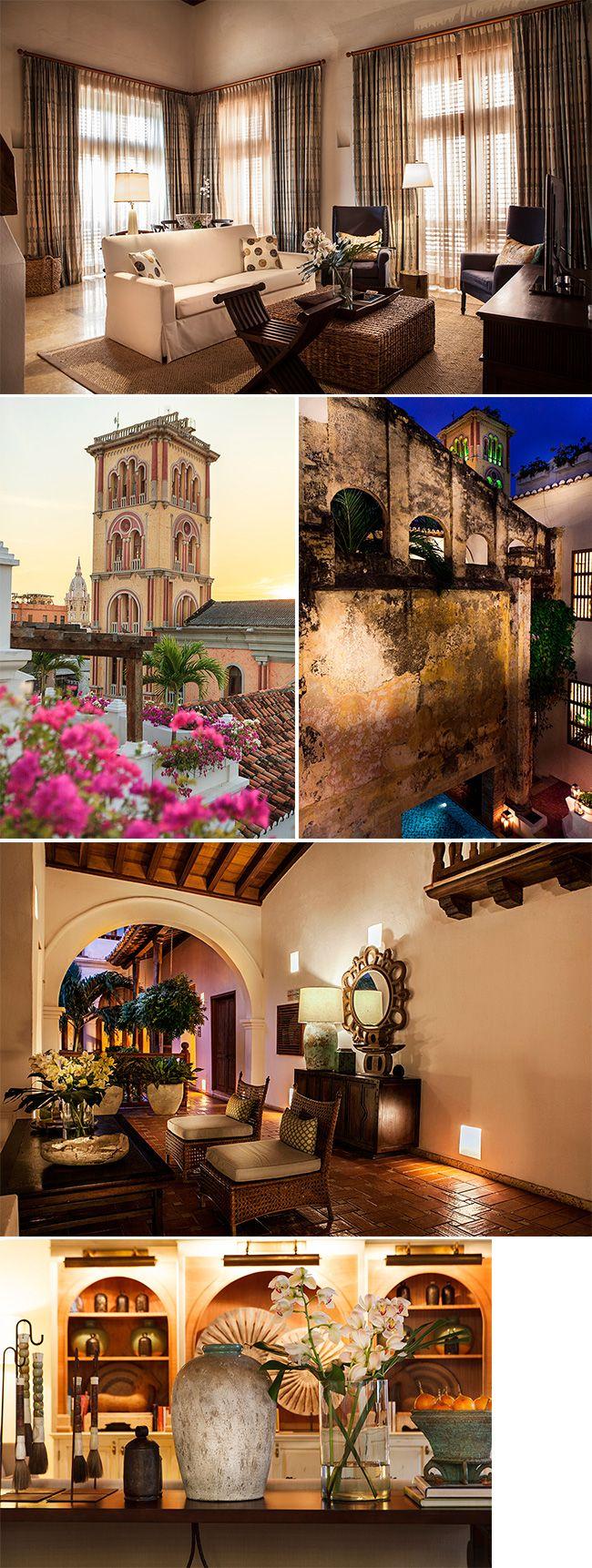 A Casa San Agustín é um charmoso hotel com estilo colonial localizado no centro histórico de Cartagena. A atmosfera é acolhedora e a construção do século 17 possui detalhes centenários que valem um olhar mais atento, como os afrescos restaurados da biblioteca e o teto de madeira dos quartos.