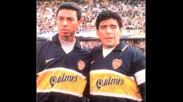 """Cuando Maradona lo vio patear tiros libres a Solano lo llamo """"el maestrito"""""""