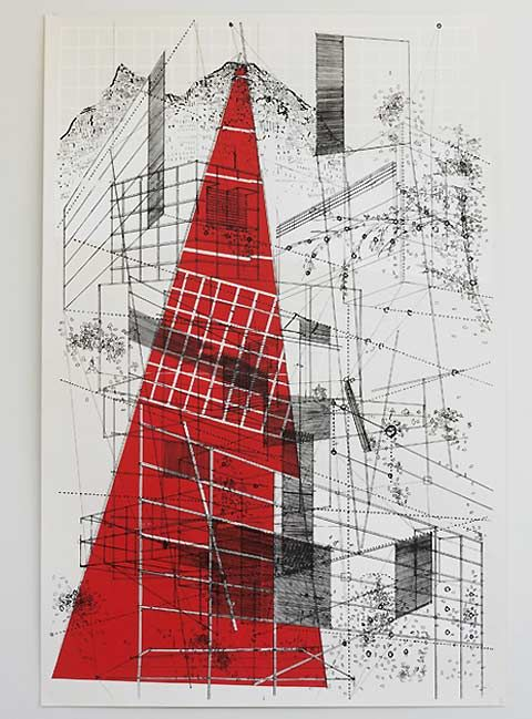 Architectural drawings by Ben Kafton