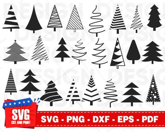 Christmas Tree Svg Bundle Christmas Tree Dxf Merry Etsy Tree Svg Roses Drawing Tutorial Christmas Svg