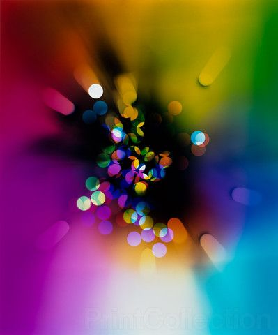 Light Struck Prism a color photogram created by Ellen Carey as a C-Print at 24 x…