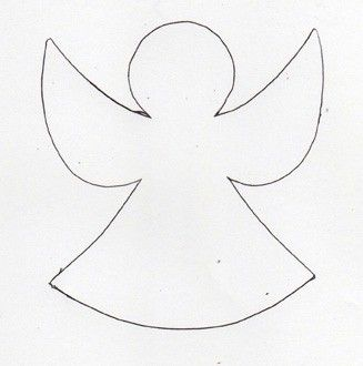 Make a chain of angels to wrap around your Christmas tree or use to decorate your packages. A single one also makes a great gift card.