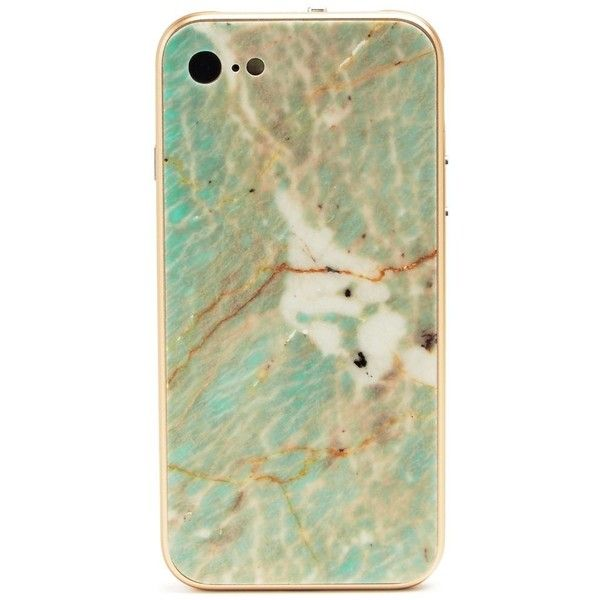 Roxxlyn Phone Cases Amazonite Quartzite iPhone 7 Case ($298) ❤ liked on Polyvore featuring men's fashion, men's accessories, men's tech accessories and gold