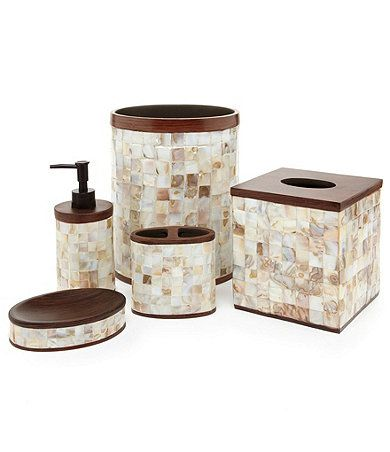 28 best mother of pearl images on pinterest mother of pearls master bath and master bathroom for Dillards bathroom accessories sets