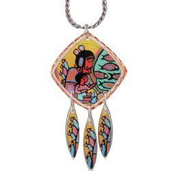 Norval Morrisseau - Looking Through Portal - Artist Collection Copper Necklace